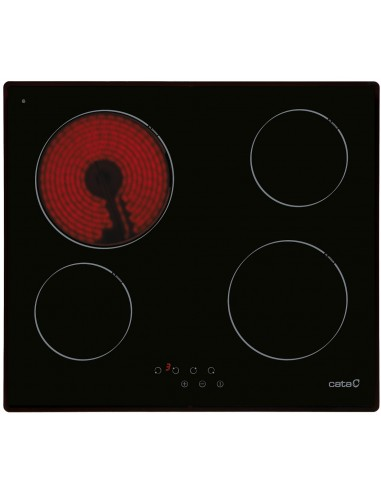 Placa Cata T604 4 Fuegos Negro...